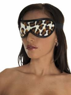 Velourleder-Augenmaske, leo