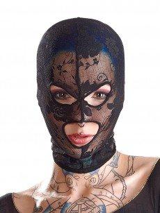 Bad Kitty Spitzenkopfmaske mit Augen-/Mundöffnung, schwarz