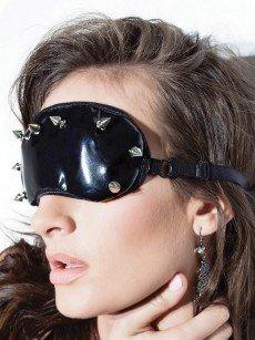 Coquette: Lack-Augenmaske, schwarz