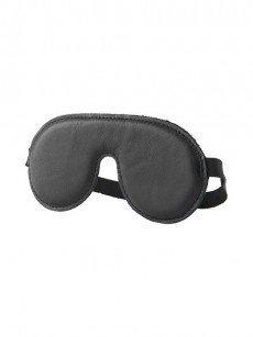Hidden Desire: Leder-Augenmaske, schwarz