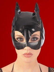 Lack Katzenmaske, schwarz