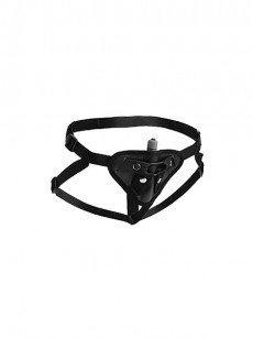 Strap U Sutra: Strap-On Harness mit Vibratortasche, schwarz