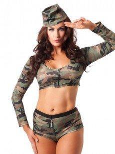 Kostüm: Sexy Soldier, camouflage
