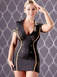 Stewardess-Kleid, schwarz
