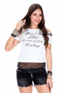 Cipo & Baxx Damen T-Shirt mit Schriftzug
