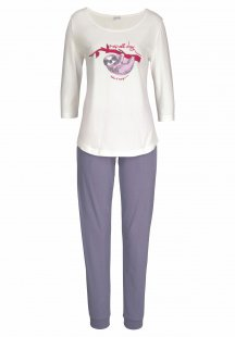 Petite Fleur Pyjama mit Faultier Print »nap all day«