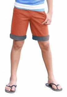 Arizona Sweatbermudas, mit kontrastfarbener Innenseite und Aufschlag