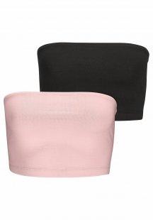 Buffalo Bandeau-Schlaftops (2 Stück) aus elastischer Qualität