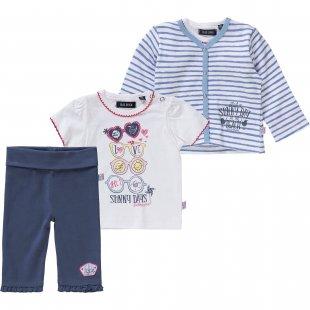 BLUE SEVEN Baby Set Sweatjacke + T-Shirt + Hose für Mädchen