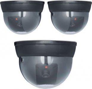 relaxdays 3er Set Dummy Kamera Attrappe Fake Camera Überwachungskamera Sicherheitskamera