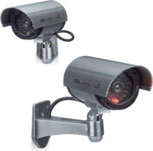 relaxdays 2er Set Dummy Kamera CCD Sicherheitskamera drahtlos Kamera Attrappe Überwachung