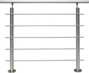Treba Geländerset Aluminium Basisset AB6 (Bodenmontage)