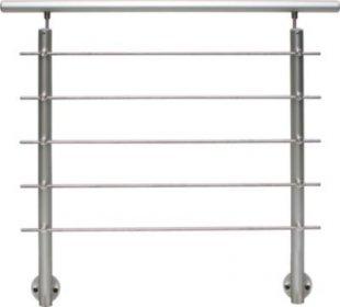 Treba Geländerset Aluminium Basisset AB5 (seitliche Montage)