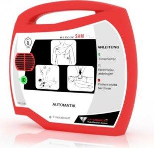 Progetti Rescue SAM AED Vollautomat mit Funktionstasche, 5 Jahre Hersteller-Garantie