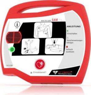 Progetti Rescue SAM AED Halbautomat mit Funktionstasche, 5 Jahre Hersteller-Garantie