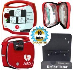 Progetti Rescue SAM AED Halbautomat mit Funktionstasche und Wandhalterung, 10 Jahre Hersteller-Garantie