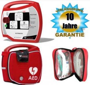 Progetti Rescue SAM AED Vollautomat mit Funktionstasche, 10 Jahre Hersteller-Garantie