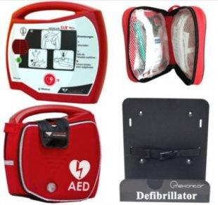 Progetti Rescue SAM AED Halbautomat mit Funktionstasche und Wandhalterung, 5 Jahre Hersteller-Garantie