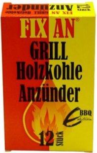 Till-Zündfix Holzkohle-Anzünder ´´Fix an´´ Riegel (12er Pack)