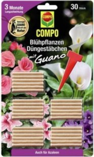 COMPO Blühpflanzen Düngestäbchen mit Guano,30 Stäbchen