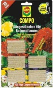 COMPO Düngestäbchen &#39Balkon & Terrasse&#39, 30 Stück