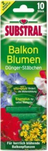 Substral Dünger-Stäbchen für Balkonpflanzen - 10 Stück