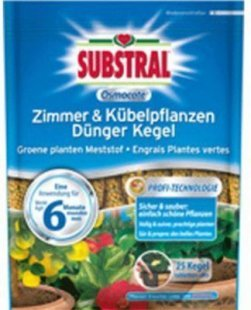 SUBSTRAL® Langzeit-Düngekegel &#39Zimmerpflanzen&#39, 25 Stück