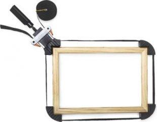 relaxdays Rahmenspanner mit Spannbacken 4m
