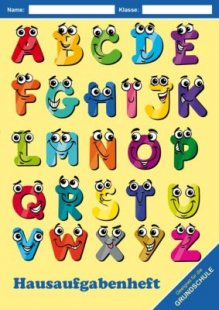 Hausaufgabenheft - ABC Comic