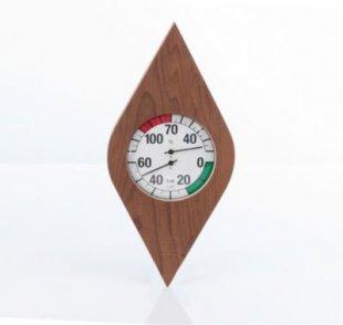Eliga 83020 Klimamesser Ø 135 mm im Thermo-Holzrahmen