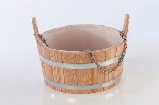 Eliga 8380 Aufgusswanne aus Lärchenholz 17 Liter