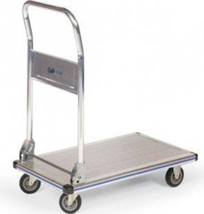 Protaurus Aluminium-Plattformwagen mit Rohrschiebebügel