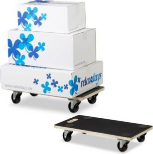 relaxdays 2er Set Transportroller für Möbel 400 kg Transportroller Rollbrett Möbelhund