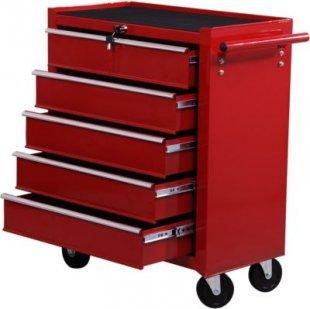 HOMCOM Mobiler Werkstattwagen mit 5 Schubladen