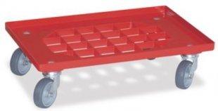 BRB Transportroller mit vergitterter Deckfläche, rot