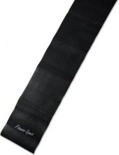 Strapazierfähiges Gymnastikband, 2,5m x 15cm, 0,65 mm dicke, schwarz