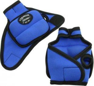 Carnegie Neopren Gewichtsmanschette 2x500g Handgelenk Manschette mit Daumenschlaufe, Laufgewicht mit Klettverschluß