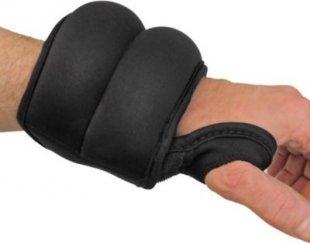 JOM Laufgewichte Gewichtsmanschetten 2 x 0,5 kg, Armgewichte Fitness Arm Hanteln Set