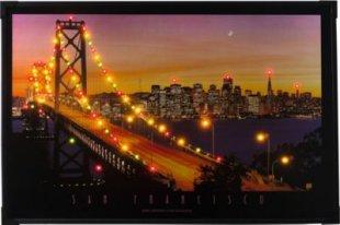 Heitronic LED Bild SAN FRANCISCO Leuchtbild Brücke