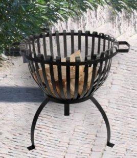 Feuerkorb, Feuerschale &acuteTulpe&acute aus Eisen LxBxH 50x54x50 cm