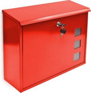 relaxdays Briefkasten Metall 3 Fenster Farbauswahl