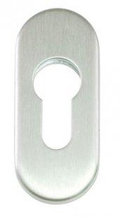 Ovalrosette für Zylinder Edelstahl