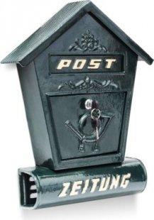 relaxdays Briefkasten Antik mit Zeitungsfach