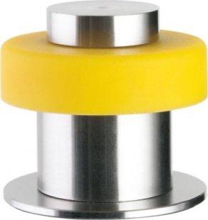 Design-Türpuffer Steel-Line ´´Flair?, Edelstahl mit gerader Kappe, gelb (1 Stück)