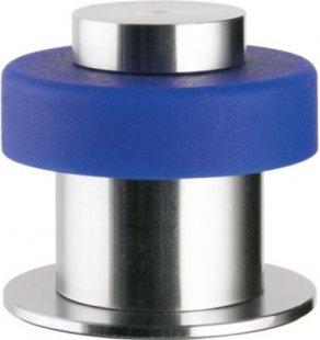 Haas Design-Türpuffer Steel-Line ´´Flair´´, Edelstahl mit gerader Kappe, blau