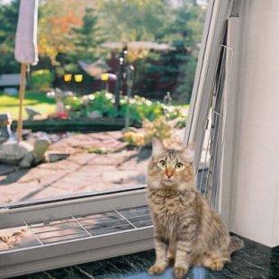 TRIXIE - Kippfenster-Schutzgitter schräg