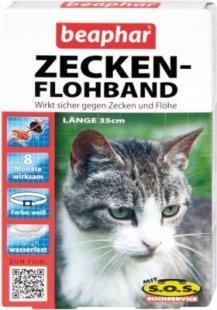 Beaphar - Zecken-Flohband für Katzen mit SOS