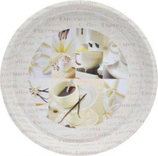 HTI-Living Tablett mit Kaffee-Motiv Vanille