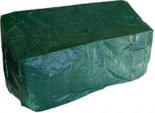gartenmoebel-einkauf Abdeckhaube Bank 3-sitzer 163cm, PE dunkelgrün