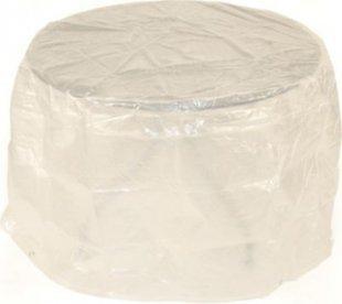 gartenmoebel-einkauf Abdeckhaube Tisch 125x70cm rund, PE transparent